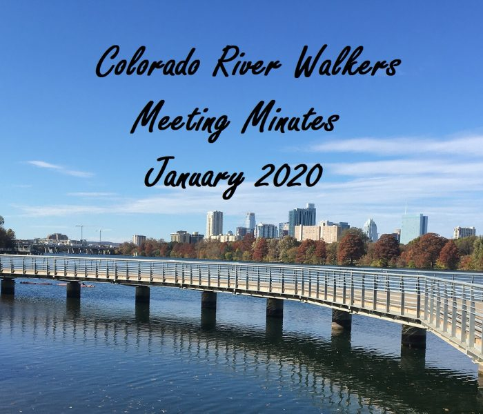 Meeting Minutes January 2020
